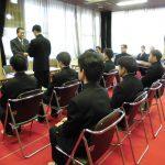 令和元年度同窓会奨学金 後期 給付式開催